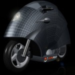 Solar motorbike uses snail shell shape for surface area